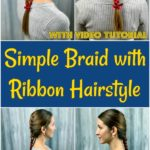 Braided hair with ribbon collage