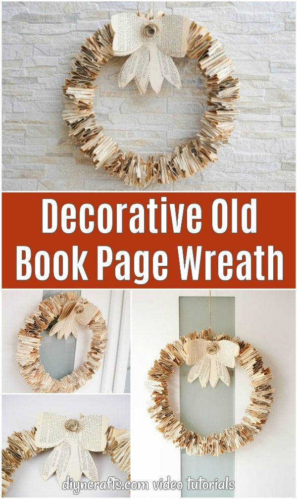 "Collage de couronne de page de livre ancien ""width ="" 600 ""height ="" 1008 ""srcset ="" https://cdn.diyncrafts.com/wp-content/uploads/2020/02/rustic-old-book-wreath-with-bow -p.jpg 600w, https://cdn.diyncrafts.com/wp-content/uploads/2020/02/rustic-old-book-wreath-with-bow-p-179x300.jpg 179w ""tailles ="" (max -largeur: 600px) 100vw, 600px"