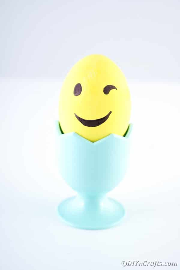 Winking Easter egg