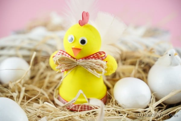 Upcycled Planter Chicken Easter Decoration