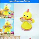 Chicken easter decoration collage