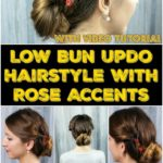 Collage of bun hairstyle
