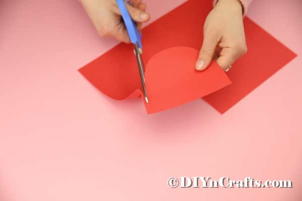 Cutting tongue out of paper
