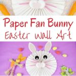 Paper bunny fan collage