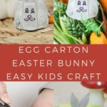 Egg carton Easter bunny collage