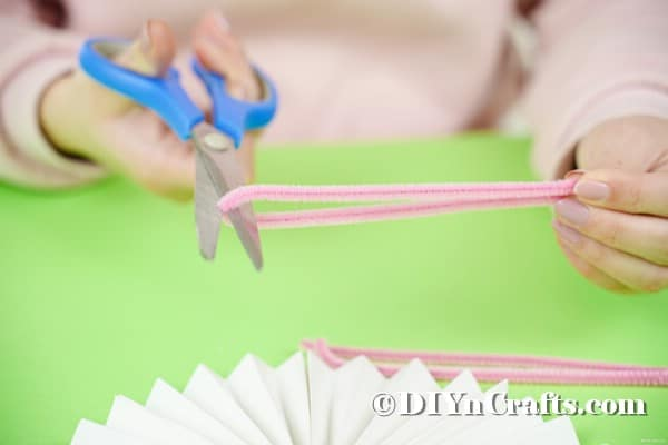 Cutting pipe cleaners in half