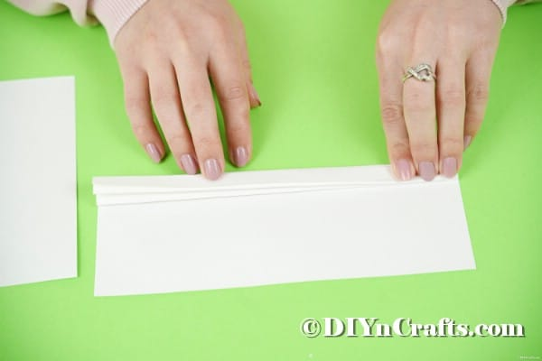 Folding paper accordion style