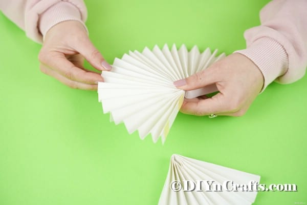 Gluing the fan together
