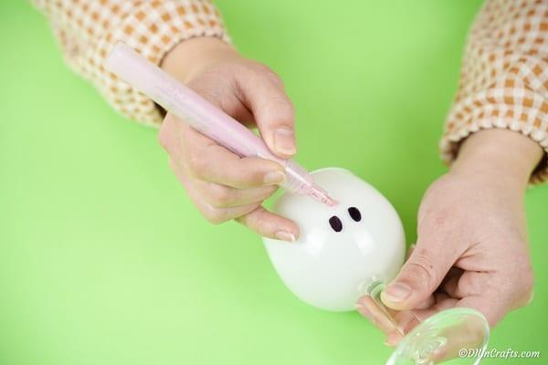 Adding nose to bunny