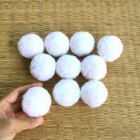 Handmade White Pom Poms