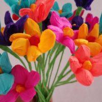 12 Paper Flowers, Dia de Los Muertos