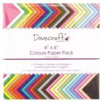 """Plain Craft Paper SOLID COLOURS 6"""" x 6"""""""