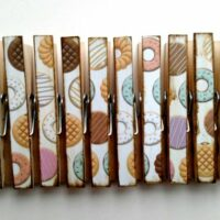 Delish Donuts Clothespins set of 10 Decoupage Clothespins
