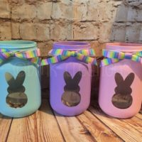 Peeps Painted Mason Jar Lanterns
