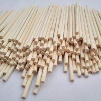 """Wooden Dowel Rods 3/8"""" x 12"""" - Bag of 25"""