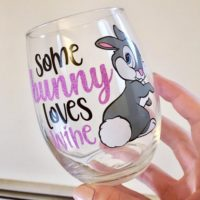 Some Bunny Loves Wine Wine Glass