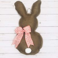 Burlap Stuffed Bunny Wall Art