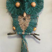 Owl Macrame Wall Hanging
