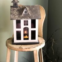 Farmhouse Metal Lantern Votive Candle Holder