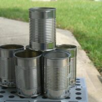 Empty Clean Tin Can Set For Crafting
