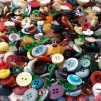 100 Vintage Small Colorful Buttons