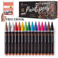 Set of 15 Permanent Oil Based Paint Markers Fine Tip