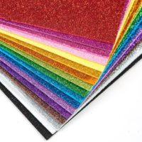 10Sheets Glitter Foam Paper Sparkles Paper for Children's Craft Activities DIY Cutters Flash Gold Handcraft Foam Paper Sheets
