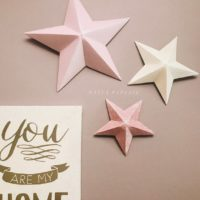 Giant 3D paper stars