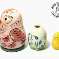 Easter Chicken with egg Nesting Doll,