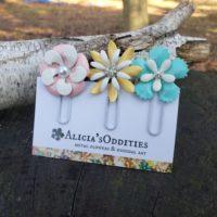 Enamel Flower Planner Clips Bookmarks