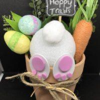 Hoppy trails! Easter Bunny Butt Flower Pot