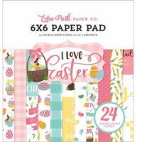 I LOVE EASTER 6x6 Scrapbook Cardstock Paper Pad