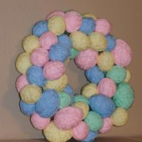 Yarn Wrapped Egg Easter Wreath