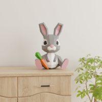 Bunny Papercraft 3D DIY l