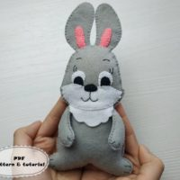 Felt Bunny Pattern Plush Easter Bunny Sewing Pattern