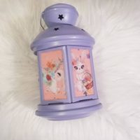 Easter Lantern Decoration with Bunnies