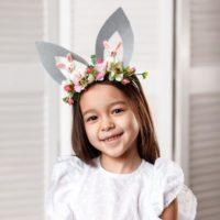 Kids bunny ears flower crown