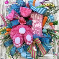 Bunny Tail Easter Wreath