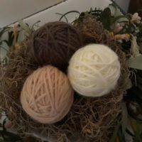 Yarn Wrapped Eggs / Decorative Eggs / Birds Nest Eggs
