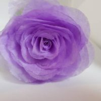 Purple Tissue Paper Rose