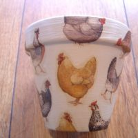 Bespoke Hand Painted and Decoupaged Decorative Flower Pot