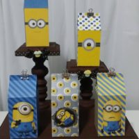 Boy Minion Milk Carton Favor/Treat Box (Set of 10)