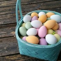 Artificial Dyed Easter Eggs