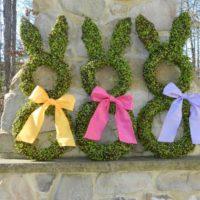 Spring Green Bunny Wreath