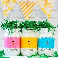 Easter Peeps Mason Jars