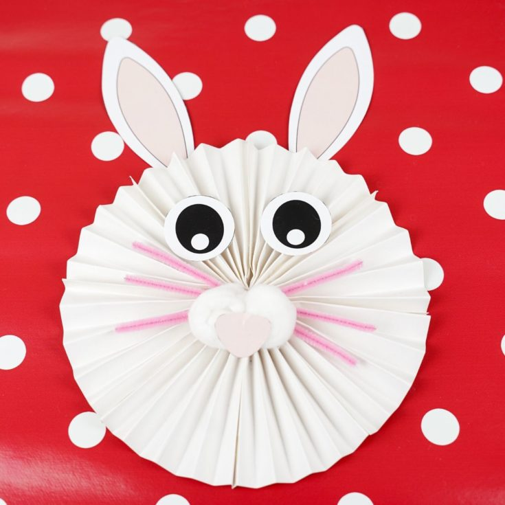 Adorable Paper Fan Bunny Wall Art Decoration