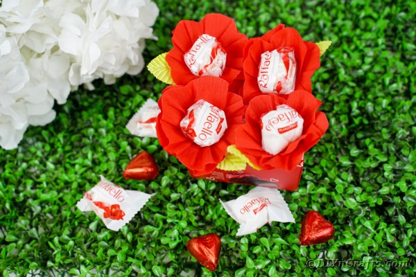 Box of paper flower candy