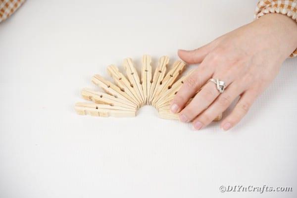 Half circle clothespins