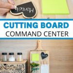 Cutting board command center collage