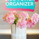 Craft stick organizer can collage